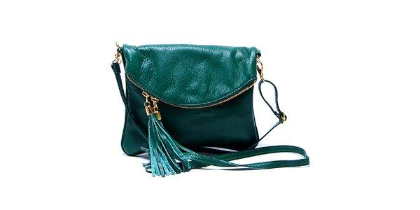 Dámská malá smaragdově zelená kabelka Renata Corsi