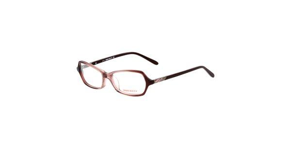 Dámské retro hnědé brýle Miss Sixty