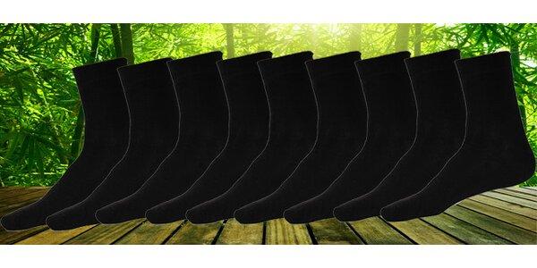 12 párů pánských klasických ponožek z bambusového vlákna