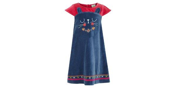 Dívčí petrolejové šaty s kočičkou Uttam Boutique