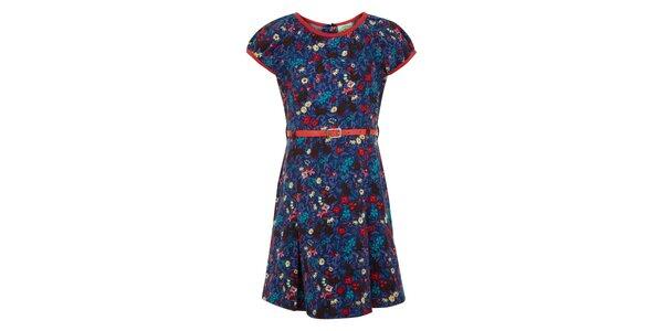 Dívčí potištěné modré šaty Uttam Boutique