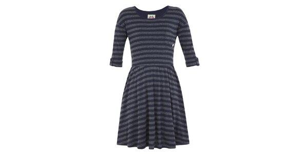 Dívčí modro-šedé šaty s proužkem Yumi