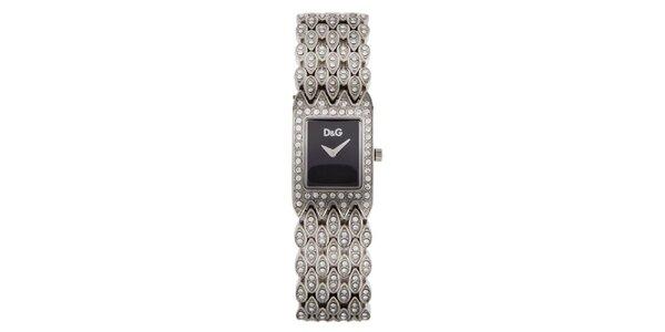 Dámské ocelové hodinky Dolce   Gabbana s kamínky 5153b56678