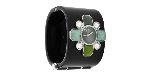 Dámské náramkové hodinky Dolce & Gabbana s barevnými kamínky