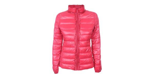 Dámská růžová prošívaná bunda DJ85°C