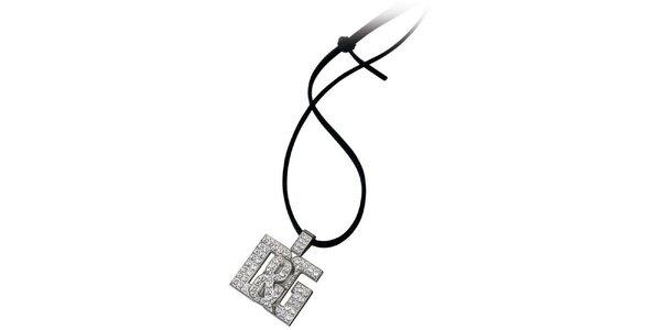 Dámský ocelový přívěsek Dolce & Gabbana s kamínky