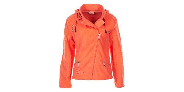 Dámská oranžová fleecová bunda Utopik