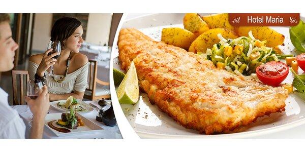 50% sleva na všechna jídla v restauraci Hotelu Maria