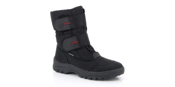 Pánské černé boty s pásky Kimberfeel