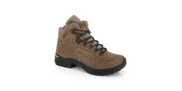 Hnědé kotníkové boty Kimberfeel