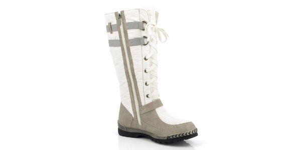 Dámské béžovo-bílé zimní boty Kiberfeel
