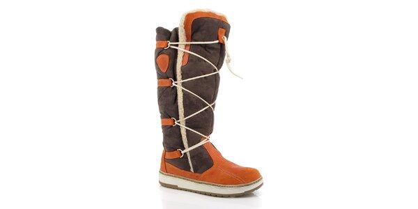 Dámské hnědo-oranžové sněhule Kimberfeel