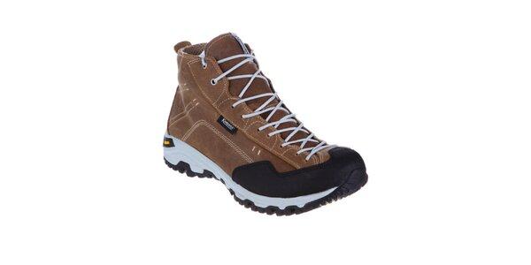 Pánské hnědé teplé šněrovací boty Kimberfeel