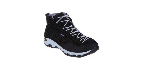 Pánské černé teplé šněrovací boty Kimberfeel