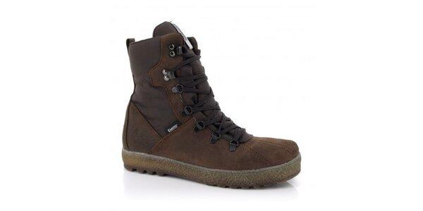 Pánské hnědé šněrovací boty Kimberfeel