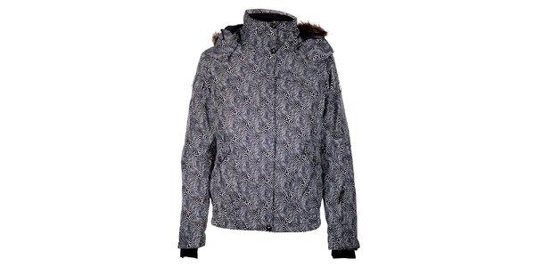 Dámská černá zimní bunda Trimm Nessa s kožíškem a potiskem