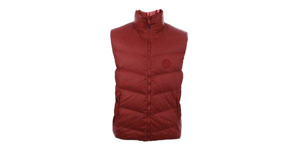 Pánská tmavě červená péřová vesta Trimm