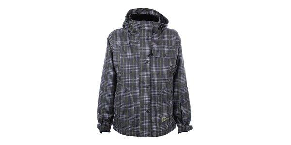 Dámská šedo-zelená kostkovaná zimní bunda Trimm