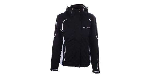 Dámská černá zimní bunda s bílými motivy Trimm
