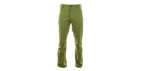 Pánské světle zelené funkční kalhoty Trimm