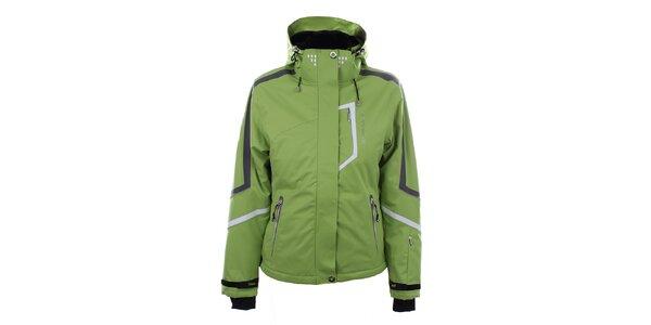 Dámská světle zelená lyžařská bunda Trimm