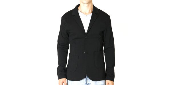Pánské bavlněné černé sako Santa Barbara