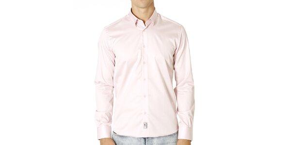 Pánská světle růžová bavlněná košile Santa Barbara