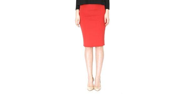 Dámská rudá pouzdrová sukně Santa Barbara