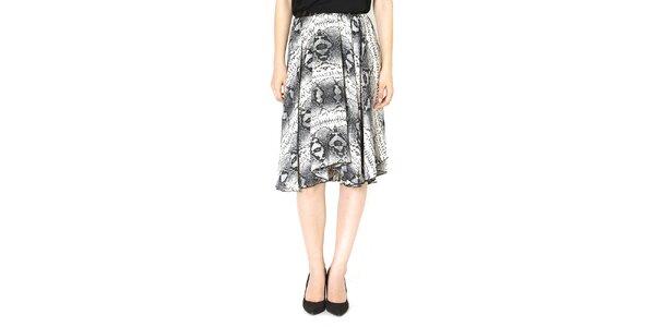 Dámská vzorovaná šedá volná sukně Santa Barbara