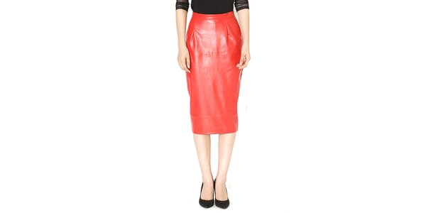 Dámská červená pouzdrová sukně Santa Barbara