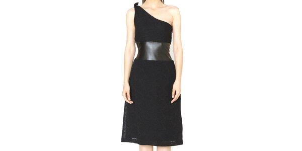 Dámské černé šaty s volným ramenem Santa Barbara
