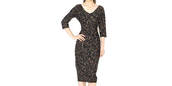 Dámské šaty s hnědým vzorem Santa Barbara