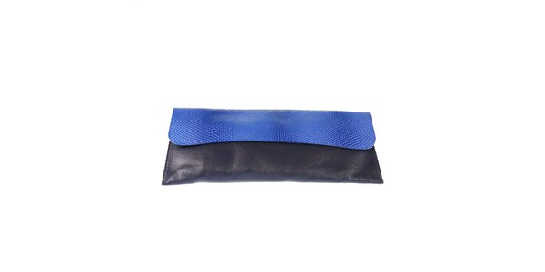 Dámské černé psaníčko s modrou klopou Belle & Bloom
