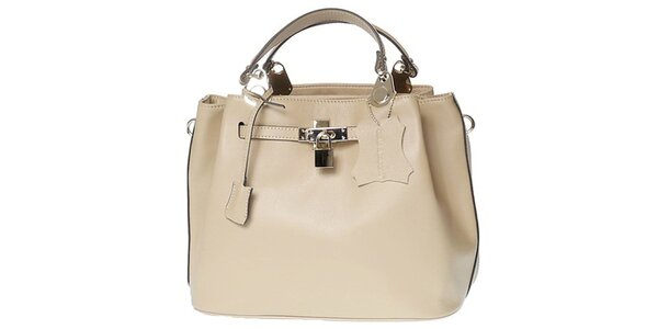Dámská béžová kabelka se zámečkem Belle & Bloom