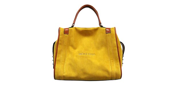 Dámská žluto-hnědá kabelka Belle & Bloom