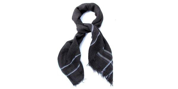 Dámský tmavě šedý šátek Belle & Bloom