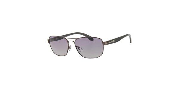 Pánské hnědo-černé sluneční brýle Calvin Klein