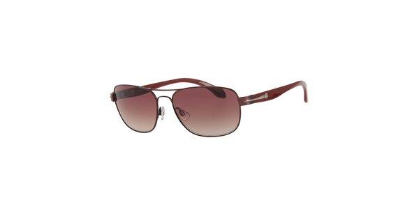 Pánské vínové sluneční brýle Calvin Klein