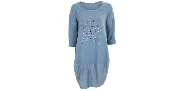 Dámské modré tunikové šaty Sugar Crisp