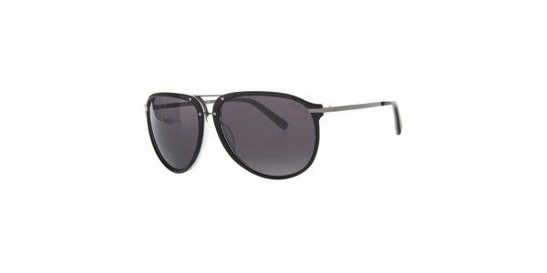 Pánské černé sluneční brýle Calvin Klein s polarizovanými skly