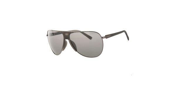 Pánské šedé sluneční brýle Calvin Klein s polarizovanými skly