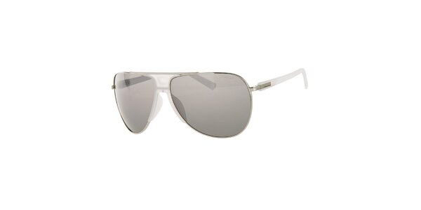 Pánské bílo-stříbrné sluneční brýle Calvin Klein s polarizovanými skly