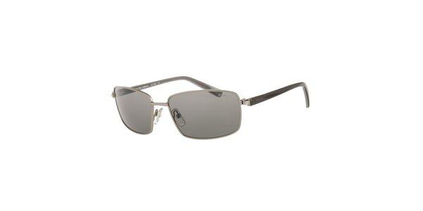 Pánské černo-stříbrné sluneční brýle Calvin Klein s polarizovanými skly