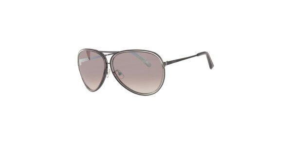Pánské šedé sluneční brýle Calvin Klein