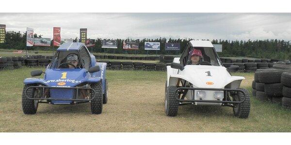 Dětské závodní Buggy pro děti od 5 do 15 let na terénní trati.