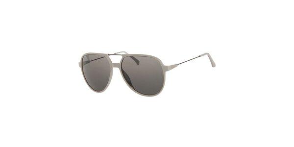 Pánské světle šedé sluneční brýle Calvin Klein