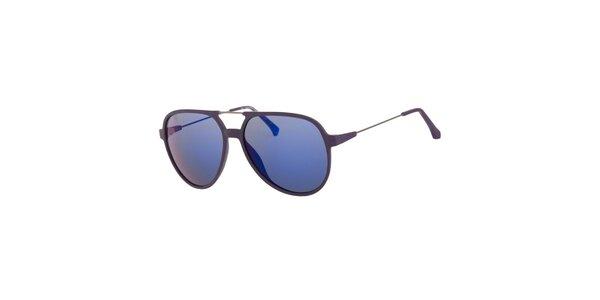 Pánské fialové sluneční brýle Calvin Klein se zrcadlovými skly