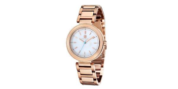 Dámské růžově zlaté ocelové hodinky Klaus Kobec