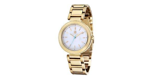 Dámské zlaté ocelové hodinky Klaus Kobec