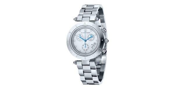 Dámské stříbrné hodinky s nápisem na lunetě Klaus Kobec